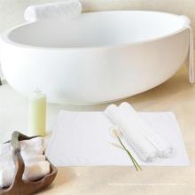 Белый хлопок в клетку коврик для ванной впитывающие коврики (WST-2016003)