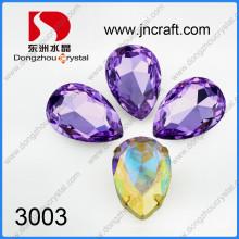 Améthyste 18 * 25mm Crystal Point Back Stone pour la vente en gros