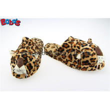 Men Shoes Plush Stuffed Leopard Microwave Flaxseed and Lavender Slipper