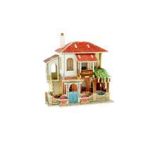 Juguete de coleccionables de madera para casas globales-Turquía Villa