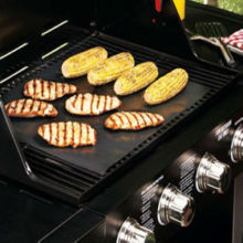 BBQ Non Stick Cooking Mat Hot Plate Liner , Oil Fat Free Cooking And Protect Your BBQ