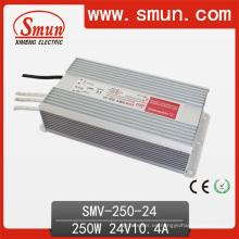Fuente de alimentación impermeable IP67 de la salida del solo 250W 24V LED