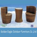 Elegante Patio Garden PE Wicker Bar Muebles