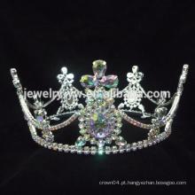 Cabelo acessórios de jóias de cabelo coroas vintage e brincos de cruz banhado a ouro jóias por atacado coroas e tiaras