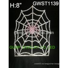 Tiara de la fantasía de Halloween del rhinestone de la araña