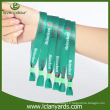 Custom sports sublimation tissu polyester matériel bracelet de concert