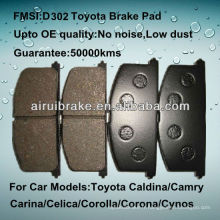 Plaquette de frein avant Toyota Tercel qualité OE D263