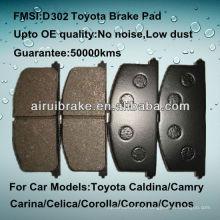 OE qualidade Toyota Tercel freio dianteiro pad D263