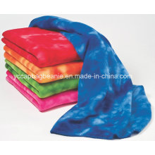100%Polyester High Quality Tie Dyed Micro Fleece Blanket