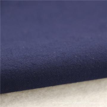 21x21 + 70D / 140x74 264gsm 144cm de profundidade azul marinho algodão dupla estiramento sarja 2 / 2S tecido uniforme de tecido de algodão tecido feminino