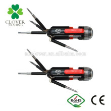 2 * batería AAA ABS 6 LED 8 en 1 destornillador multi con linterna de la antorcha