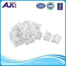Plastic 4 Holes Corner Brackets White Rigid Joints