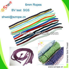 6mm coloured rope for decoration