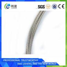 6 * 7 aço carbono galvanizado fio corda