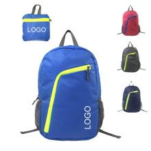 sports folding outdoor backpack portable knapsack hiking travel foldable backpack with custom logo