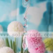 Raindrop moderna Lámpara Chandelier de cristal y perlas de Octagon hermoso árbol cayendo lámpara de techo de boda