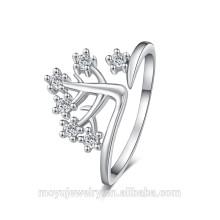 Joyería magnética del anillo de la plata del anillo del dígito binario