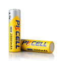 pkcell 18650 3.7v li-ion battery 2600mah lithium rechargeable battery