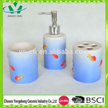 Diseño Natural Sea World Sea Fish Ceramic Bathroom Set
