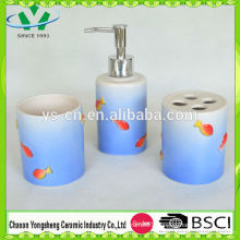 Natural Design Sea World Sea Fish Ceramic Bathroom Set