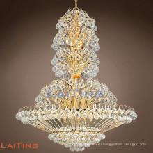 Уникальное освещение антикварная люстра французский стиль кристалл падение люстра