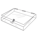 Custom Clear Acrylic Storage Flat Showcase Box