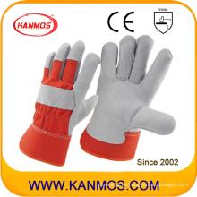 Rojo Industrial vaca Split cuero mano seguridad trabajo guantes (110092)
