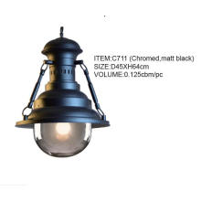 Good Quality Chromed, Matt Black Hanging Pendant Lighting (C711(chromed, matt black))