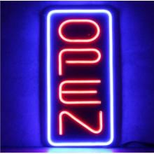 Вертикальные неоновые открытые знаки на продажу светодиодная вывеска Совета