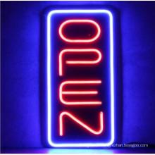 Sinais abertos de néon verticais para venda LED sinal Baord