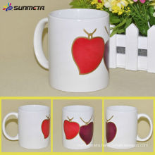 YiWu Heart Shape Sublimation Color Changing Mug Wholesale