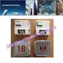 Elevador Kone Botones Levantar Piezas De Repuesto De Acero Inoxidable De Forma Redonda Push Button De Llamada MTD-270
