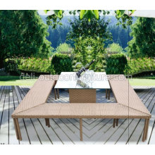 Sistema de barra de lujo mimbre patio muebles