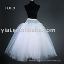 2013 princesa estilo nupcial vestido enagua PC013
