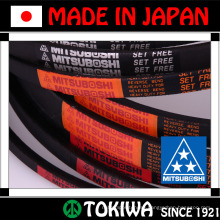 Mitsuboshi Belting raw edge cogged auto v belt for different kinds of generators. Made in Japan (transmission belt)