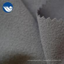 Tissu en maille brossé super poly pour vêtements