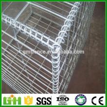 Malla de alambre soldada gabion hesco bassion / barrera militar