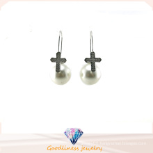 Wholesale Jewelry Pearl Style Woman′s Fashion AAA CZ 925 Silver Earring (E6552)