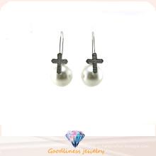 Оптовые серьги типа женщины перлы ювелирных изделий способа AAA CZ 925 серебряные (E6552)