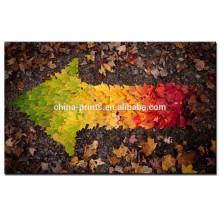 Las impresiones de la lona de las hojas de arce / arte de la pared del punto de la flecha / ilustraciones creativas de la lona de la decoración del hogar