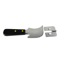Cuchillo del recorte de la guía del corte del piso del vinilo del surco del cuchillo de cuarto de luna para el piso