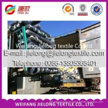 Acción sólida 100% de la tela de la tela cruzada de algodón para la ropa en weifang