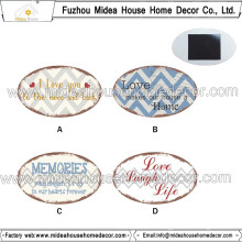 Home Decoration Promotional Oval Heart Shape Custom Fridge Magnet