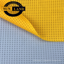 Gaufre en microfibre en tissu nid d'abeille en tissu de sportswear usine