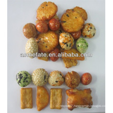 Popular Japanese rice crackers and nuts snacks