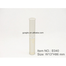 Delgado y elegante con forma de bolígrafo de aluminio lápiz labial tubo E040, 8,5 mm, color de encargo del tamaño de la taza