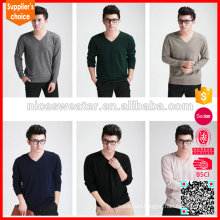 2016 hot selling erdos men knitted 100%cashmere sweater