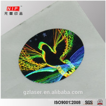 PET honeycomb material dove pattern hologram sticker
