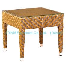 Muebles de mimbre de mesa de ratán