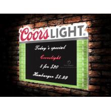 Coorslight light bar sign